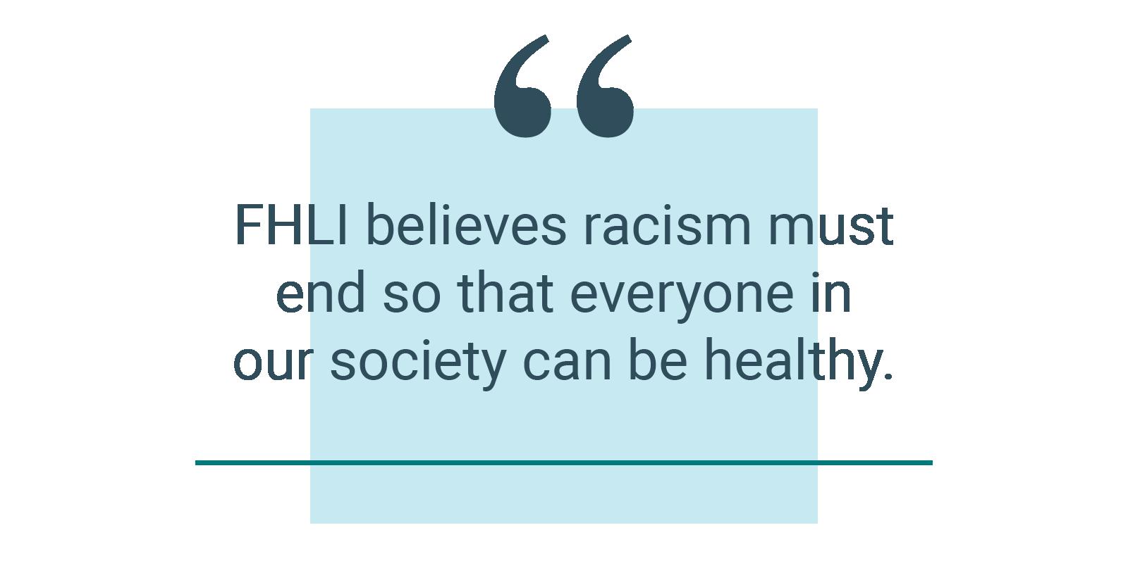 FHLI Statement Against Racism