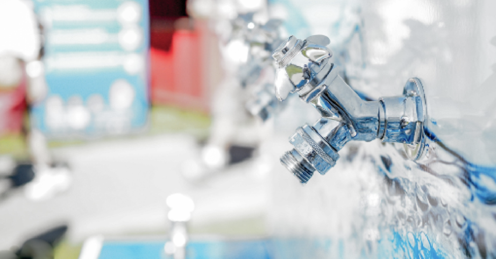 Image of water taps
