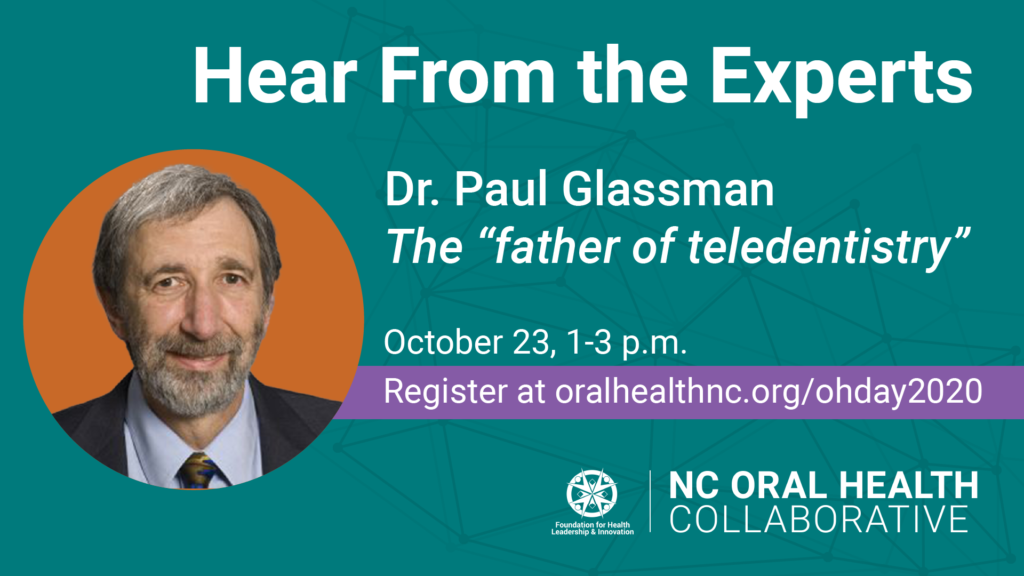 "Graphic of Paul Glassman, the ""father of teledentistry"""