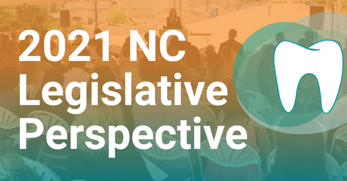 """Graphic with text, """"2021 NC Legislative Perspective"""""""