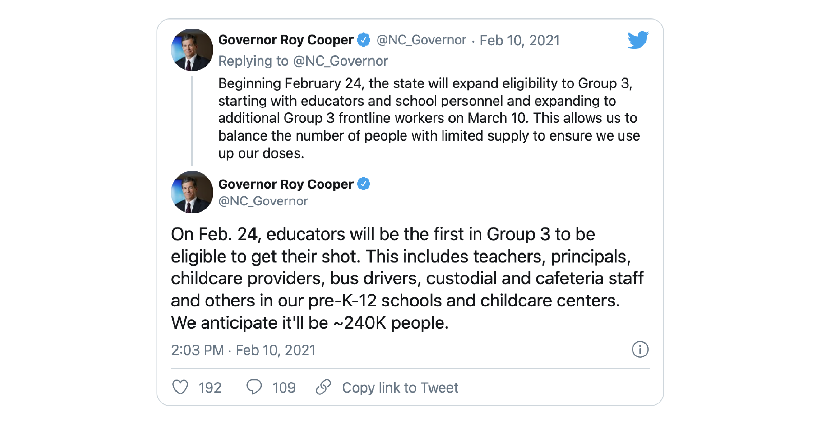 Dentists given authority to administer COVID-19 vaccine, per Gov. Cooper executive order