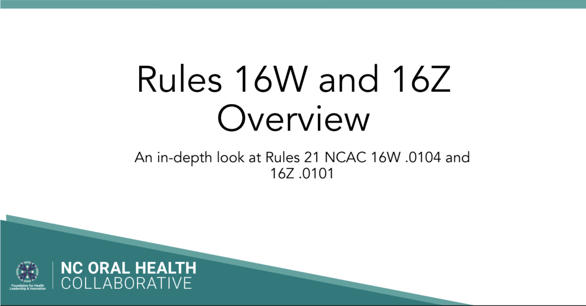 title slide for a webinar about Rules 16W and 16Z