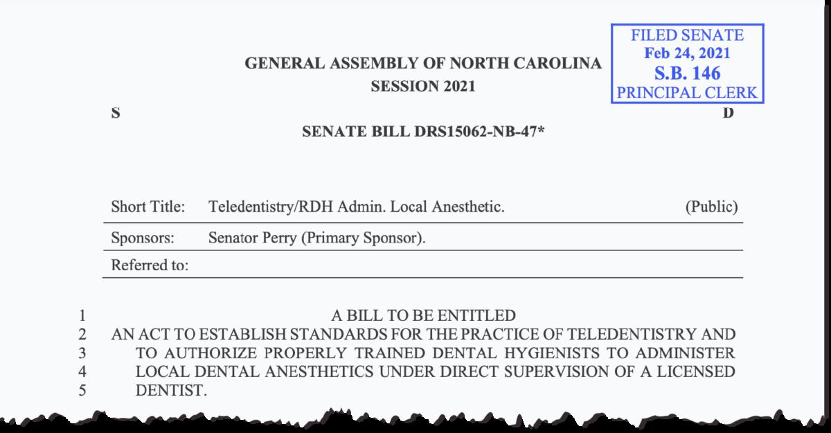 Cutout of proposed Senate Bill 146