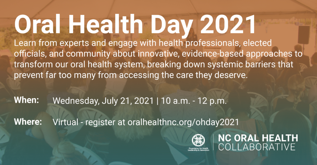 Oral Health Day 2021 Save-the-date for July 21, 2021